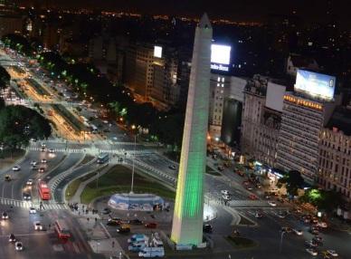 obelisco verde e amarelo